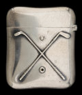 Silver Smalls:Match Safes, A GORHAM SILVER MATCH SAFE . Gorham Manufacturing Co., Providence,Rhode Island, circa 1900. Marks: (lion-anchor-G), STERL...