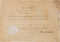Autographs:U.S. Presidents, Chester A. Arthur Appointment Signed....