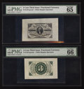 Fractional Currency:Third Issue, Fr. 1227SP 3¢ Third Issue Wide Margin Pair PMG Gem Uncirculated 65 and 66 EPQ.. ... (Total: 2 notes)