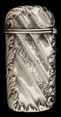 Silver Smalls:Match Safes, A GORHAM SILVER MATCH SAFE . Gorham Manufacturing Co., Providence,Rhode Island, 1899. Marks: (lion-anchor-G), STERLING,...