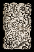 Silver Smalls:Match Safes, A GORHAM SILVER MATCH SAFE . Gorham Manufacturing Co., Providence,Rhode Island, 1891. Marks: (lion-anchor-G), STERLING, 8...
