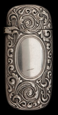 Silver Smalls:Match Safes, A GORHAM SILVER-PLATED MATCH SAFE . Gorham Manufacturing Co.,Providence, Rhode Island, circa 1890. Marks: (anchor),GORHA...