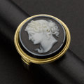 Estate Jewelry:Cameos, Superb Hard Stone Cameo Ring. ...