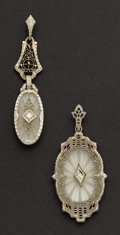 Estate Jewelry:Pendants and Lockets, Two Gold Rock Crystal Pendants. ... (Total: 2 Items)