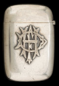 Silver Smalls:Match Safes, A GORHAM SILVER MATCH SAFE . Gorham Manufacturing Co., Providence,Rhode Island, 1897. Marks: (lion-anchor-G), STERLING, 8...