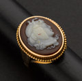 Estate Jewelry:Cameos, Early Hardstone Carnelian Cameo Ring. ...