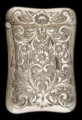 Silver Smalls:Match Safes, A GORHAM SILVER MATCH SAFE . Gorham Manufacturing Co., Providence,Rhode Island, circa 1880. Marks: (lion-anchor-G), STERL...