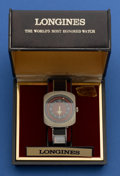 "Timepieces:Wristwatch, Longines New/Old Stock ""Comet"" Mystery Dial Wristwatch. ..."