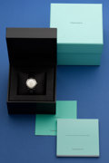 Timepieces:Wristwatch, Tiffany Lady's Steel Watch With Boxes. ...