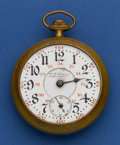 Timepieces:Pocket (post 1900), Illinois Private Label 24 Jewel 18 Size Bunn Special For Repair....