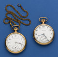 Timepieces:Pocket (post 1900), Two Burlington 21 Jewel 12 Size Pocket Watches. ... (Total: 2Items)