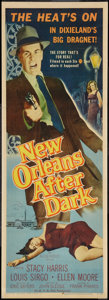 "Movie Posters:Crime, New Orleans After Dark (Allied Artists, 1958). Insert (14"" X 36"").Crime.. ..."