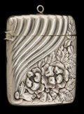 Silver Smalls:Match Safes, A GORHAM SILVER MATCH SAFE . Gorham Manufacturing Co., Providence,Rhode Island, 1888. Marks: (lion-anchor-G), STERLING, 6...