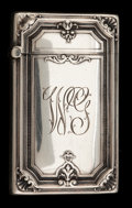 Silver Smalls:Match Safes, A GORHAM SILVER MATCH SAFE . Gorham Manufacturing Co., Providence,Rhode Island, 1914. Marks: (lion-anchor-G), STERLING, B...