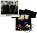 Music Memorabilia:Autographs and Signed Items, The Eagles Band-Signed Photo with Memorabilia Items.... (Total: 8 Items)