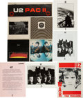 Music Memorabilia:Recordings, U2 War UK Tour Program, Press Kit, and Scarce U2 Pac II Singles Set (1983-87). ... (Total: 3 Items)
