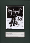 Music Memorabilia:Autographs and Signed Items, Miles Davis Signed Document....