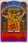 "Music Memorabilia:Posters, Rolling Stones ""Sold Out"" American Tour Concert Poster (1972)...."