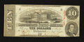 Confederate Notes:1863 Issues, T59 $10 1863 PF-41 Cr. UNL.. ...