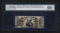 Fractional Currency:Third Issue, Fr. 1355SP 50¢ Third Issue Justice Narrow Margin Face PMG Choice Uncirculated 64 EPQ.. ...