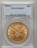 Liberty Double Eagles: , 1892-S $20 MS62+ PCGS. PCGS Population (1221/665). NGC Census:(1412/407). Mintage: 930,150. Numismedia Wsl. Price for prob...