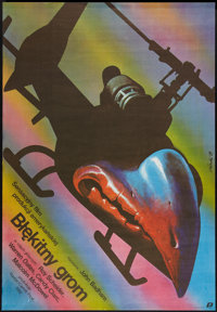 "Blue Thunder (Polfilm, 1984). Polish One Sheet (28.25"" X 36.5""). Action"