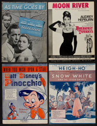 "Sheet Music Lot (Various, 1938-1961). (9"" X 12""). Musical. ... (Total: 4 Items)"