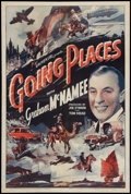 "Movie Posters:Short Subject, Going Places (Universal, 1939). One Sheet (27"" X 41""). ShortSubject.. ..."