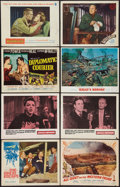 """Movie Posters:War, The Great Escape & Others Lot (United Artists, 1963). LobbyCards (7), Title Lobby Card, & Deluxe Lobby Cards (3) (11"""" X14""""... (Total: 11 Items)"""