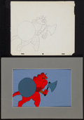 "Movie Posters:Animated, Wizards (20th Century Fox, 1977). Animation Cels (2) (10.5"" X12.5"") & Preliminary Animation Cel Drawing (10.5"" X 12.5"").An... (Total: 3 Items)"