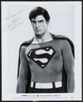"Movie Posters:Action, Christopher Reeves (Warner Brothers, 1980). Autographed PortraitPhoto (8"" X 10""). Action.. ..."