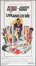 "Movie Posters:James Bond, Live and Let Die (United Artists, 1973). MP Graded Three Sheet(40.5"" X 76""). James Bond.. ..."