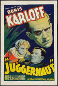 "Movie Posters:Horror, Juggernaut (Grand National, 1936). MP Graded One Sheet (27"" X 41"").Horror.. ..."