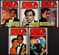 "Movie Posters:James Bond, James Bond (JB Publications,1988-1995). 007 British Fan ClubMagazines (9) (Multiple Pages, 8.5"" X 11.75"" ). James Bond.. ...(Total: 9 Items)"