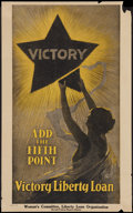 """Movie Posters:War, War Propaganda Poster (U.S. Government Printing Office, 1919). World War I Poster (17.5"""" X 28"""") """"Victory, Add the Fifth ..."""