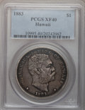 Coins of Hawaii: , 1883 $1 Hawaii Dollar XF40 PCGS. PCGS Population (122/383). NGCCensus: (48/224). Mintage: 500,000. (#10995)...