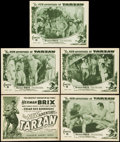 """Movie Posters:Serial, The New Adventures of Tarzan (Burroughs-Tarzan-Enterprise, 1935). Title Lobby Card and Lobby Cards (4)(11"""" X 14"""") Chapter Ei... (Total: 5 Items)"""