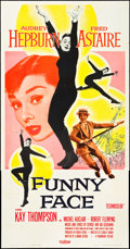 "Movie Posters:Romance, Funny Face (Paramount, 1957). Three Sheet (41"" X 81""). Romance....."
