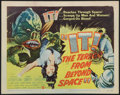 "Movie Posters:Science Fiction, It! The Terror from Beyond Space (United Artists, 1958). TitleLobby Card (11"" X 14""). Science Fiction.. ..."