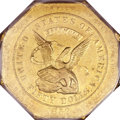 Territorial Gold, 1852 $50 Assay Office Fifty Dollar, 887 Thous. AU50 PCGS. CAC.K-13, R.5....