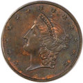 Territorial Gold, (1854) $20 Kellogg Twenty Dollar Copper Die Trial MS64 Brown PCGS.K-1, R.8....