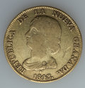 Colombia, Colombia: Republic gold 16 Pesos 1843-RS,...