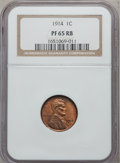 Proof Lincoln Cents, 1914 1C PR65 Red and Brown NGC....
