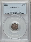 Proof Three Cent Silver, 1865 3CS PR63 PCGS....