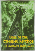 Books:Horror & Supernatural, [Jerry Weist]. H. P. Lovecraft. Tales of the Cthulhu Mythos.[Sauk City]: Arkham House, [1990]. First edition, first...