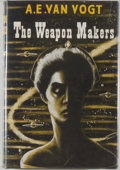 Books:Science Fiction & Fantasy, [Jerry Weist]. A. E. van Vogt. The Weapon Makers. London: Weidenfeld & Nicolson, [1954]. First British edition, firs...