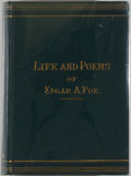 Books:Literature Pre-1900, [Jerry Weist]. Edgar Allan Poe. The Life and Poems of Edgar Allan Poe. New York: Armstrong & Son, 1882. Revised edit...