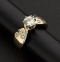 Estate Jewelry:Rings, Exceptional Diamond & Gold Ring. ...