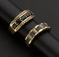Estate Jewelry:Rings, Two Estate Blue Sapphire & Gold Rings. ... (Total: 2 Items)
