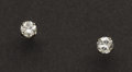 Estate Jewelry:Earrings, Diamond & Gold Studs Earrings. ...